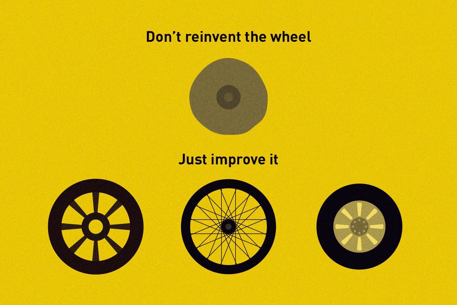 App design isn't about reinventing the wheel - it's about redesigning it